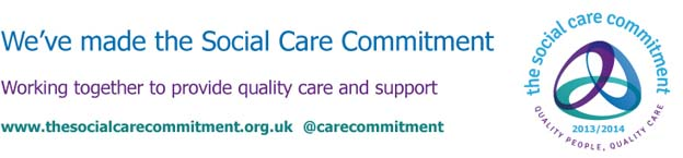 Email Banner Social care commitment small
