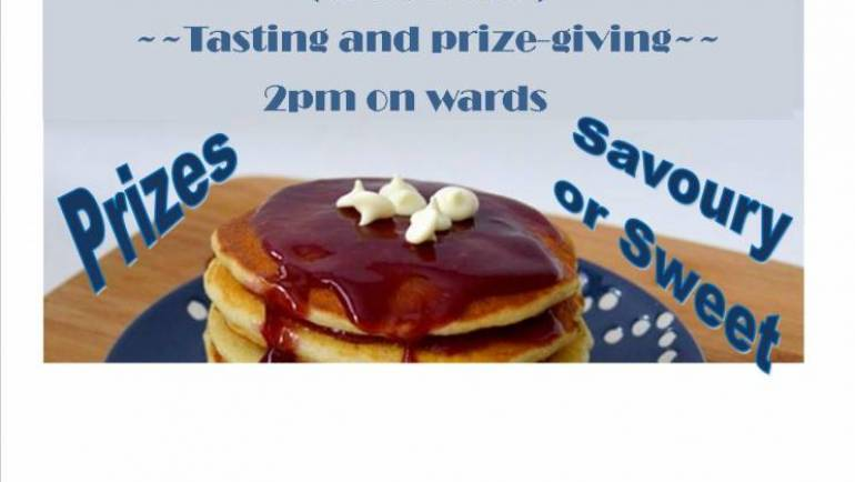 PANCAKE COMPETITION – 18 FEBRUARY 2018
