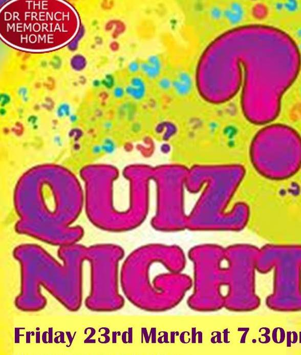QUIZ EVENING 23 MARCH 2018