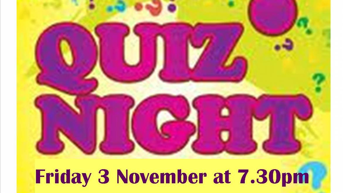 AUTUMN QUIZ EVENING – 3 NOVEMBER 2017