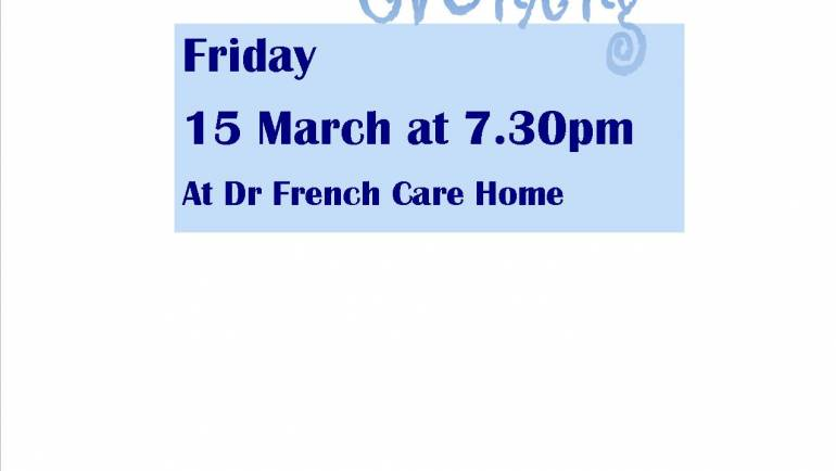 QUIZ EVENING – 15 MARCH